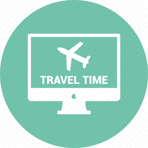 computer, desktop, display, imac, monitor, online traveling icon
