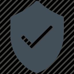 check, check mark, protect, shield icon icon
