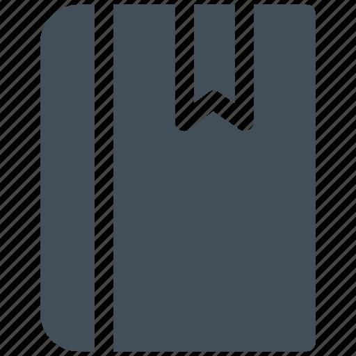 book, bookmark, education, lable, mark, office, school icon icon