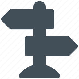 direction, road sign, sign icon icon