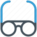 glasses, male glasses, office, study icon icon