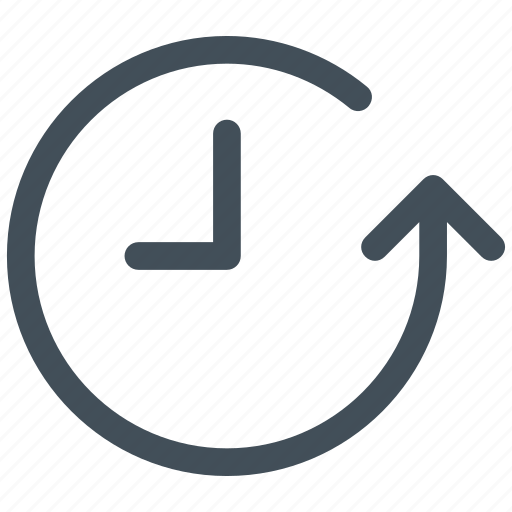 arrow, circle, clock, expired, history, round, time icon icon