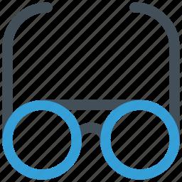 glasses, male glasses, office, study icon icon