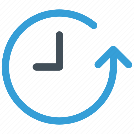arrow, circle, clock, expired, history, round, time icon icon