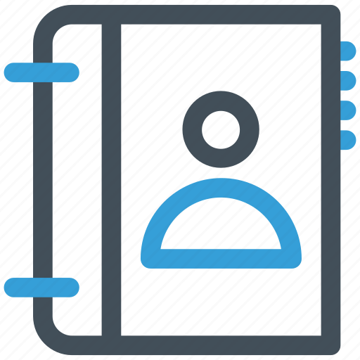 book, contact, phone icon icon