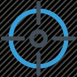 focal point, focus, game, goal, gun, losser, play, player, shot, sport, target, win, winner icon icon