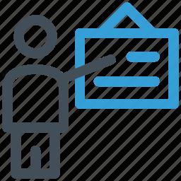 businessman, presentation, strategy icon icon