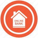 bank, banking, money, online icon