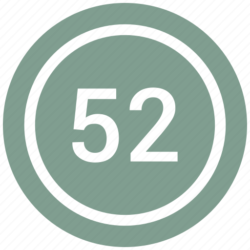 chart, count, fifty two, number icon