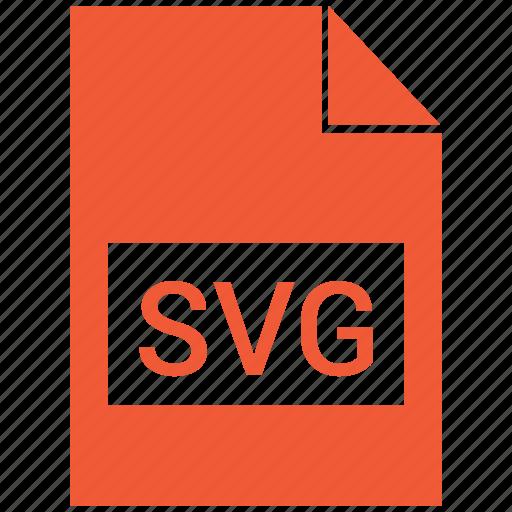 extension, file, file format, svg, svg file icon