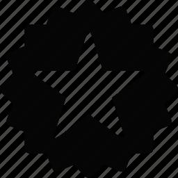 label, star icon