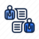 business, feedback, review, talk icon