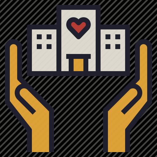 business, charity, company, csr, non, organization, profit icon