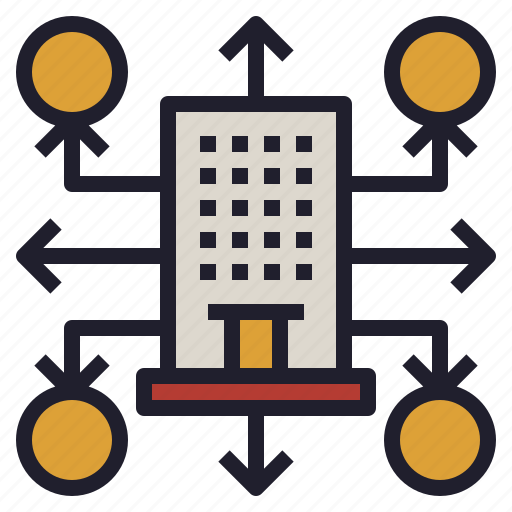 business, company, department, outsourcing, workload icon