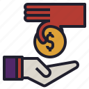 give, money, profit, receive, revenue, sale icon