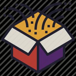 box, creativity, idea, odd, outside, think, weird icon