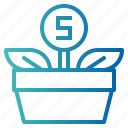 bank, growth, investment, money icon