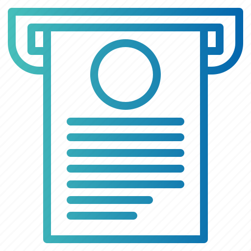 bill, business, payment, receipt icon