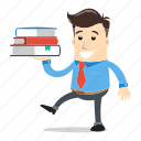 book, businessman, employee, insight, intelligence, library, success icon