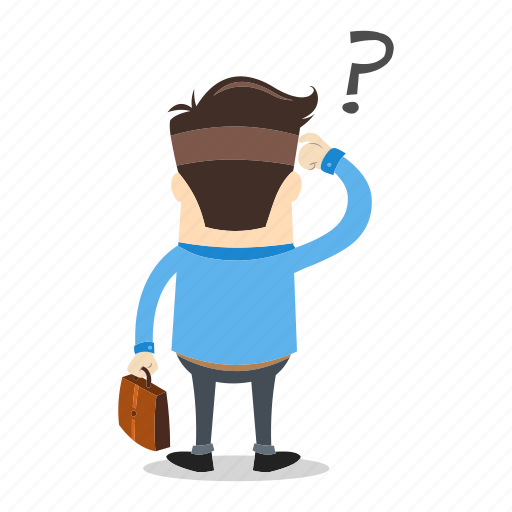 Businessman, confused, direction, employee, future, lost, success icon - Download on Iconfinder