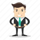 angry, avatar, businessman, employee, man, people, worker icon