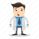 avatar, doctor, man, medical, people, shocked, therapist icon