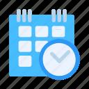 businessman, calendar, company, date, entrepreneur, schedule, time icon