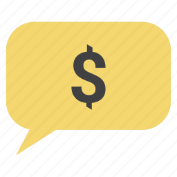 communication, dollar, email, finance, messages, money, talk icon