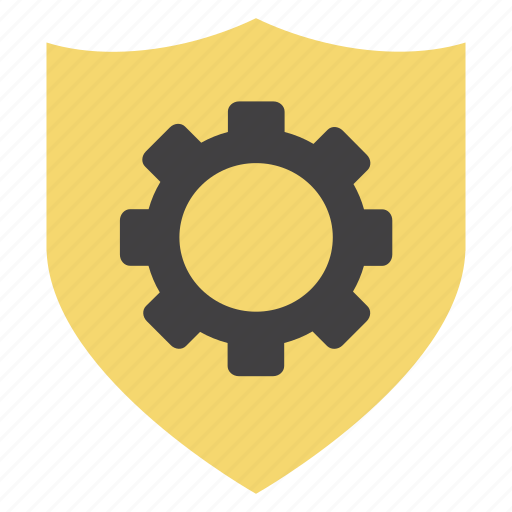 cog, gear, options, secure, security, settings, shield icon