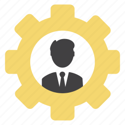 avatar, cog, gear, man, options, settings, silhuette icon