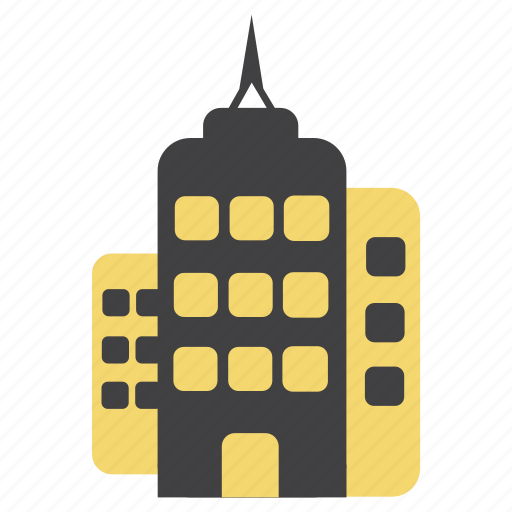 antenna, architecture, buildings, city, estate, offices icon
