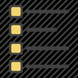 catalouge, checklist, grid, line, list, paragraph, to do icon