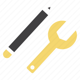 configuration, edit, options, pen, settings, wrench, write icon