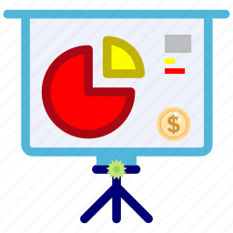 accounting, bussines, dollar, map, target, trafic icon