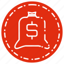 bag, bussiness, cash, sack icon