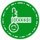 bussiness, key, success icon