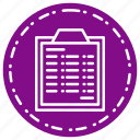 bussiness, document, list, survey icon