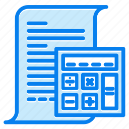 accounting, calculator, mathematics icon