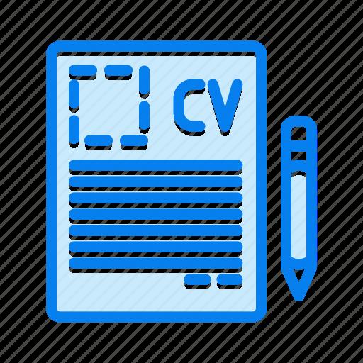 curriculum, cv, job, portfolio, vitae icon