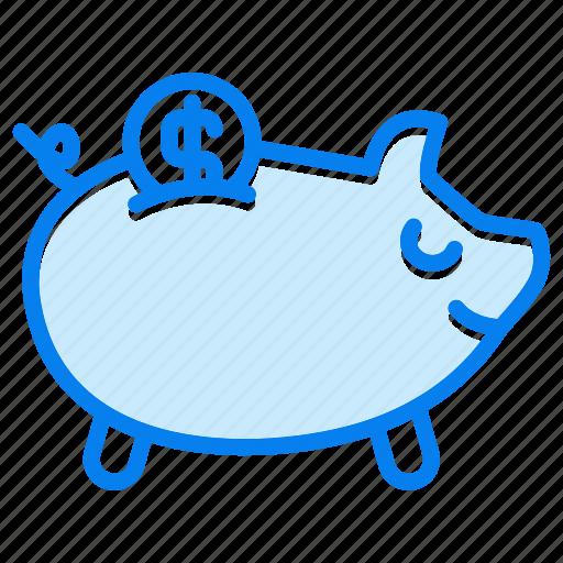bank, banking, cash, money, piggy icon