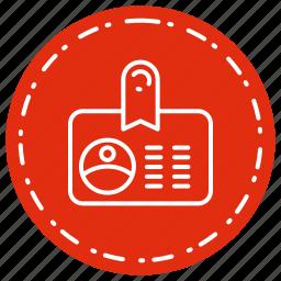 card, employee, identification, identity icon