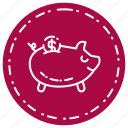 bank, banking, cash, piggy icon