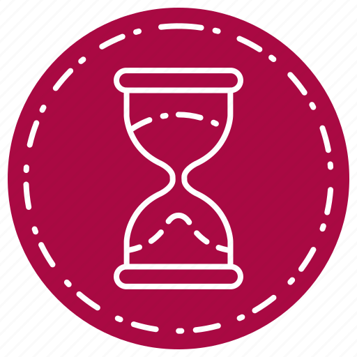 glass, hour, magnifying, timer icon