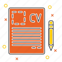 contract, cv, file, resume icon