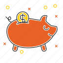 bank, piggy, piggy bank, savings, shopping, web store, webshop icon