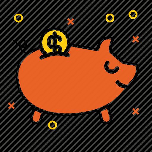 bank, piggy, piggy bank, savings, shopping, web store, webshop icon
