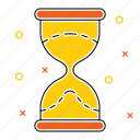 glass, hour, hourglass, progress, schedule, time, timing icon