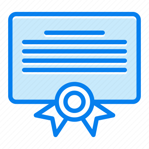 certificate, diploma, document, education, learning icon