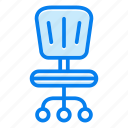 chair, desk, furniture, interior, office icon