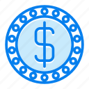 coin, currency, dollar, finance icon